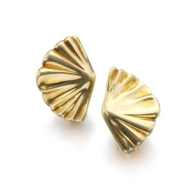PAIR OF GOLD EAR CLIPS | TIFFANY & CO., 1981