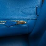 Hermès Bleu Zellige Birkin 30cm of Togo Leather with Gold Hardware