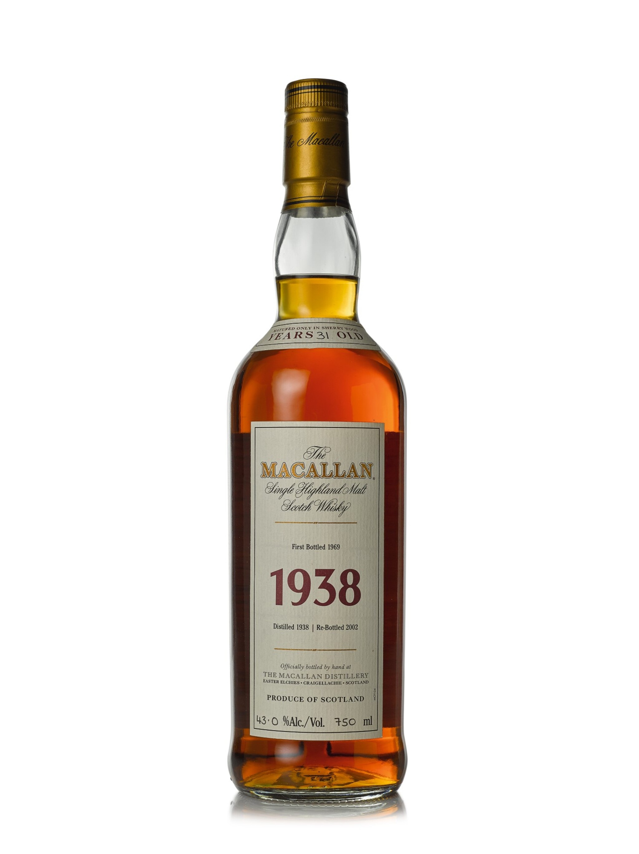 The Macallan Fine & Rare 31 Year Old 43.0 abv 1938 (1 BT75cl)