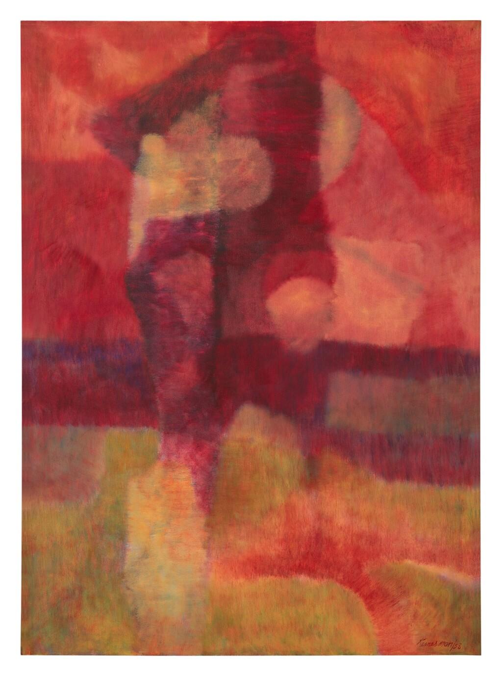 BARRY KERNERMAN | RED FIGURE IN A RED LANDSCAPE