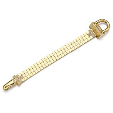 VAN CLEEF & ARPELS | 'CADENAS' GOLD AND DIAMOND BRACELET-WATCH   梵克雅寶 | 'Cadenas' 18K黃金 配 鑽石 腕錶