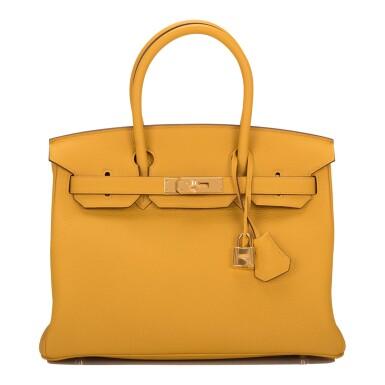 Hermès Jaune Ambre (Amber) Togo Birkin 30cm Gold Hardware