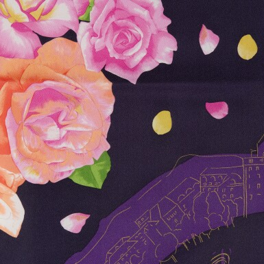 View 4. Thumbnail of Lot 125. PATEK PHILIPPE | A PAIR OF LIMITED EDITION SCARVES WITH FLORAL MOTIFS.