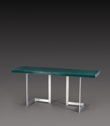 View 3. Thumbnail of Lot 191. Extendable console table.