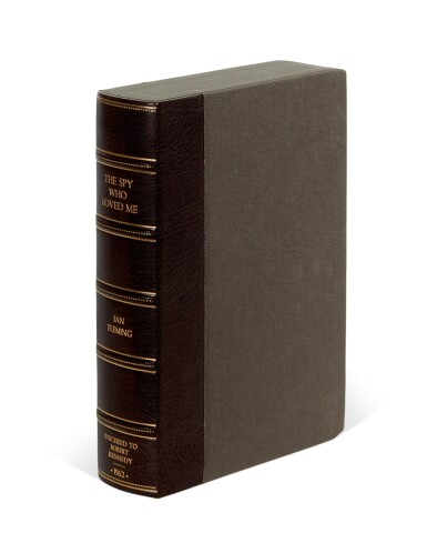 View 5. Thumbnail of Lot 52. FLEMING | The Spy Who Loved Me, 1962, first edition, presentation copy to Robert Kennedy.