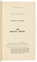 THE BEATLES | Memorandum and Articles of Association of The Beatles Limited, 1963