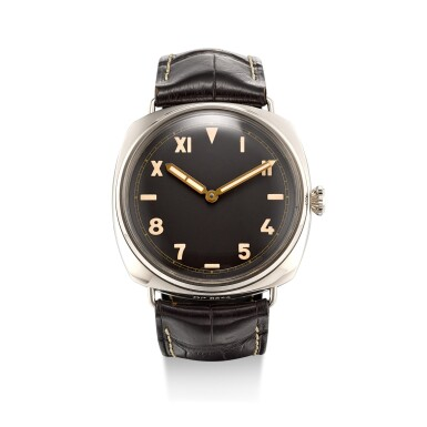 View 1. Thumbnail of Lot 1110. PANERAI | RADIOMIR 3 DAYS, REFERENCE PAM00376, A LIMITED EDITION WHITE GOLD WRISTWATCH WITH CALIFORNIA DIAL, CIRCA 2012.