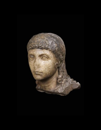 View 1. Thumbnail of Lot 66. A Roman Marble Portrait Head of a Boy, circa 2nd half of the 1st Century A.D..