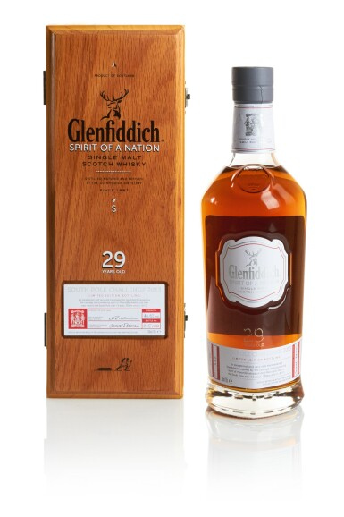 GLENFIDDICH SPIRIT OF  A NATION SOUTH POLE CHALLENGE 2013  29 YEAR OLD 48.8 ABV NV
