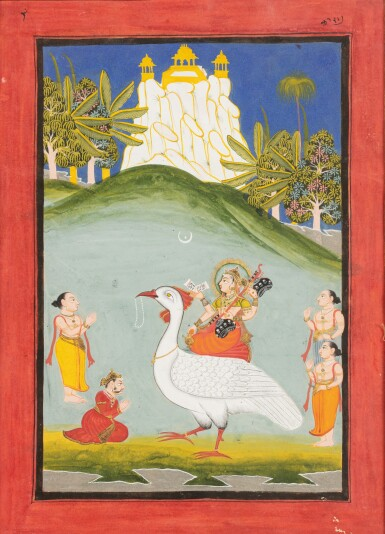 View 3. Thumbnail of Lot 37. RAJASTHAN, LATE 18TH CENTURY AND 19TH CENTURY | SIX INDIAN MINIATURES.