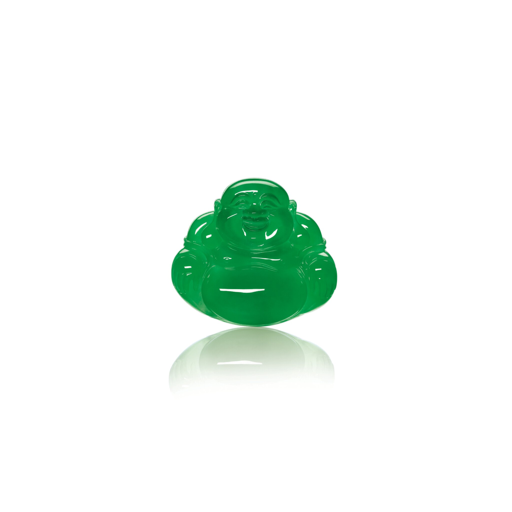 View full screen - View 1 of Lot 1798. A FINE AND RARE JADEITE BUDDHA  天然翡翠雕「彌勒佛」.