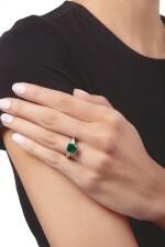 EMERALD AND DIAMOND RING, TIFFANY & CO. | 祖母綠配鑽石戒指,蒂芙尼