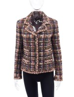 MULTICOLOR WOOL-BLEND BLAZER , CHANEL