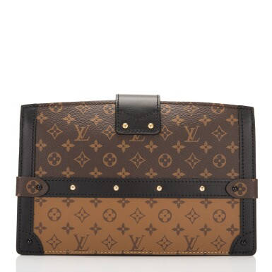 View 4. Thumbnail of Lot 115. Louis Vuitton Trunk Clutch of Reverse Monogram Canvas with Polished Brass Hardware .