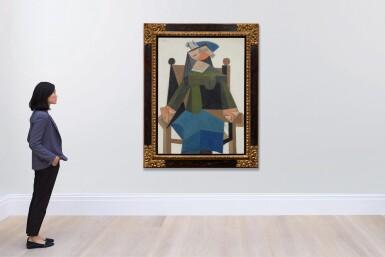 View 4. Thumbnail of Lot 120. Femme assise dans un fauteuil |《扶手椅上的女子坐像》.