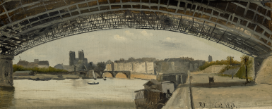 JEAN-BAPTISTE-CAMILLE COROT | VIEW OF PARIS FROM THE BANKS OF THE SEINE...