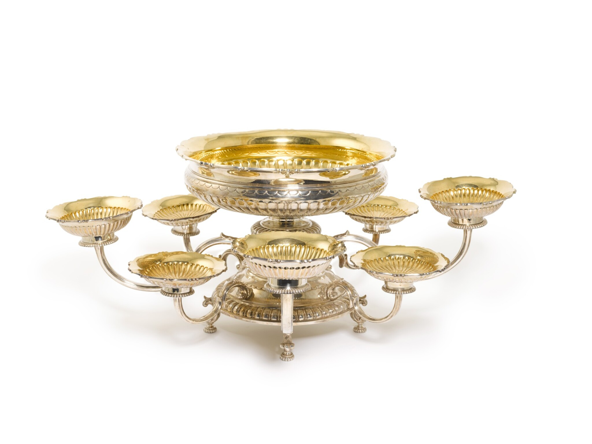 View full screen - View 1 of Lot 123. A silver epergne, Asprey & Co. Ltd., London, 1988.
