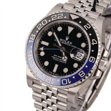 View 1. Thumbnail of Lot 6. ROLEX | GMT Master II, Ref. 126710BLNR, A Stainless Steel Wristwatch with Bracelet, Circa 2019.