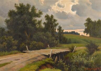 View 1. Thumbnail of Lot 147. Bridge over the River Voronka at Yasnaya Polyana.