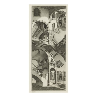 View 1. Thumbnail of Lot 102. M. C. ESCHER | UP AND DOWN (B./K./L./W. 352).