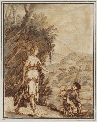 FOLLOWER OF ADAM ELSHEIMER | Tobias and the Angel
