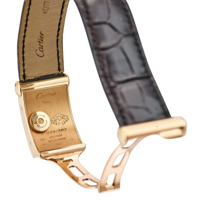 View 3. Thumbnail of Lot 611. CARTIER | PRIVEE DRIVERS A LIMITED EDITION YELLOW GOLD WRISTWATCH, CIRCA 1997.