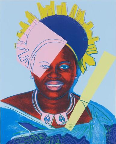 View 1. Thumbnail of Lot 19. Queen Ntombi Twala .