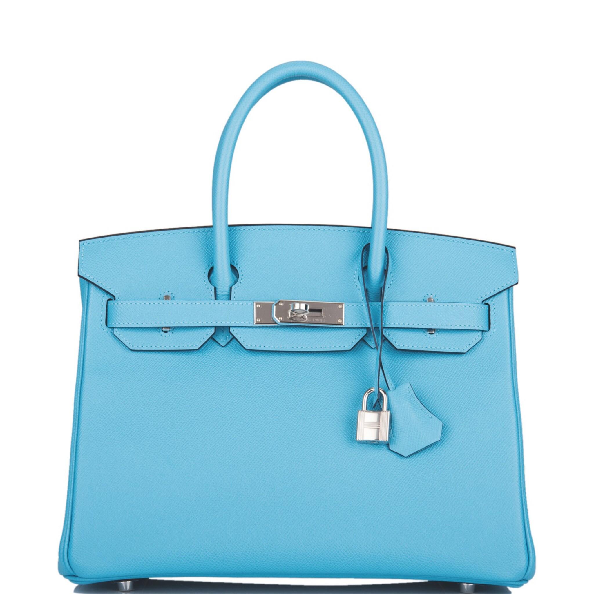 View full screen - View 1 of Lot 63. Hermès Bleu Du Nord Birkin 30cm of Epsom Leather with Palladium Hardware.