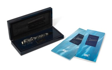 View 3. Thumbnail of Lot 69. MONTBLANC | A STERLING PLATED AND RESIN FOUNTAIN PEN, CIRCA 1993.