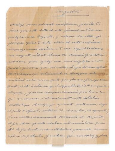 View 2. Thumbnail of Lot 120.  Importante correspondance à Violette Leduc dévoilant leur amitié littéraire. 297 lettres.