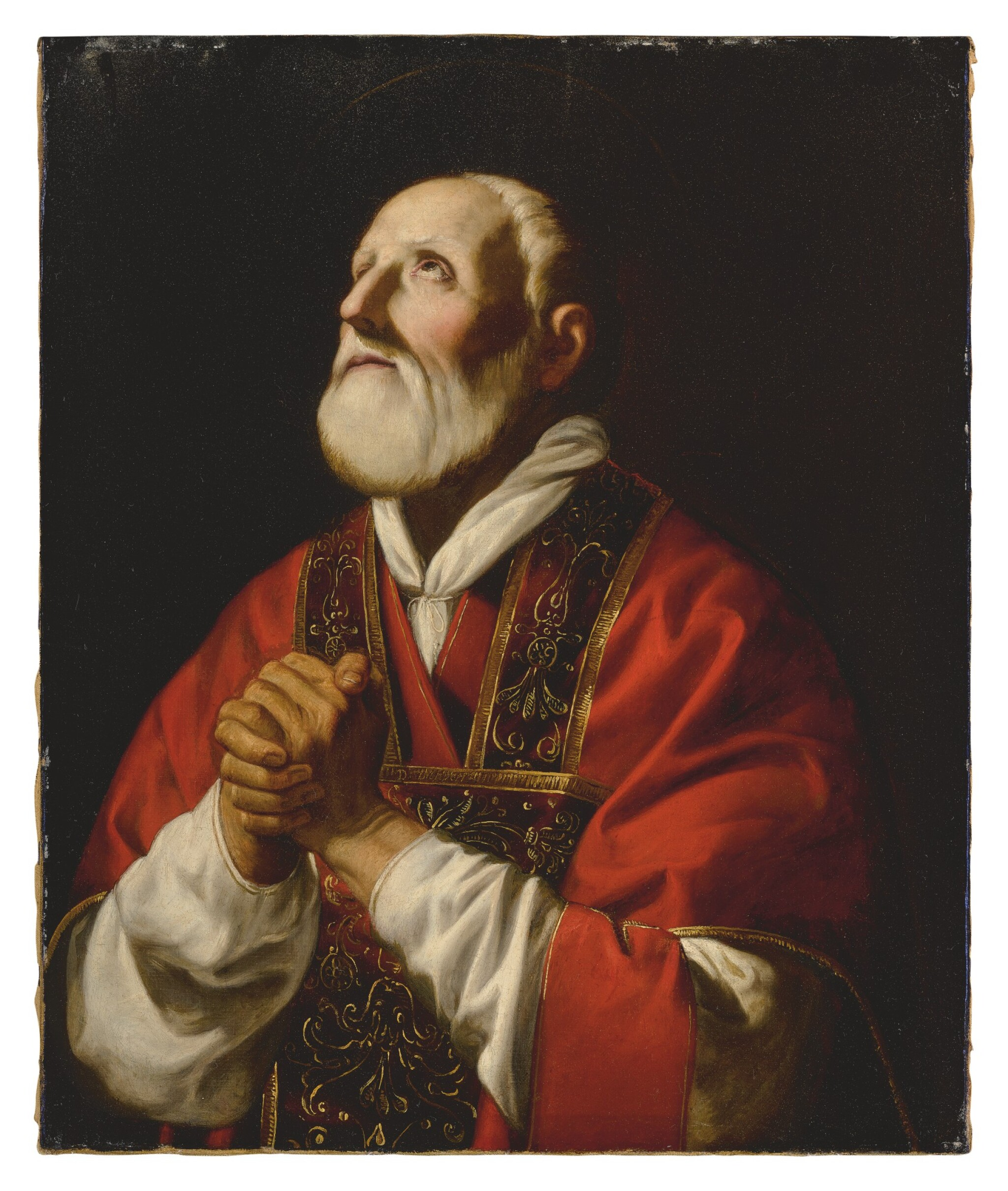 CIRCLE OF GUIDO CAGNACCI | SAINT PHILIP NERI IN PRAYER