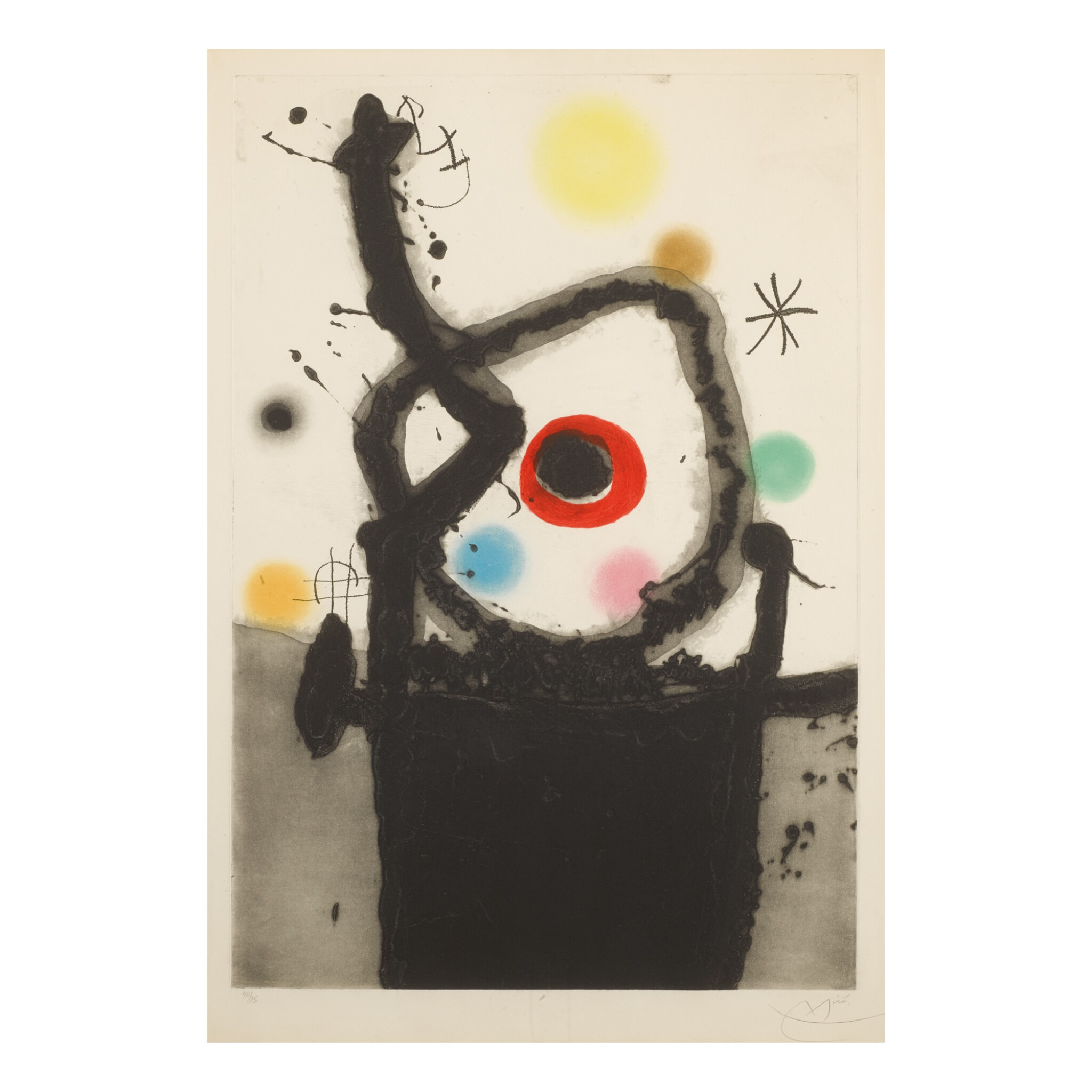 View full screen - View 1 of Lot 124. JOAN MIRÓ | LE REBELLE (D. 439).