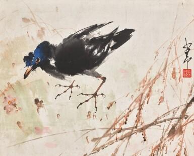 View 1. Thumbnail of Lot 47. ZHAO SHAO'ANG (1905-1998),  BIRD | 趙少昂(1905-1998年)《花鳥圖》  設色紙本 立軸.