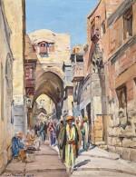 LUDWIG BLUM   A Street in Jerusalem