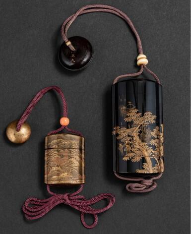 View 3. Thumbnail of Lot 252. Groupe de sept objets en laque Japon, époque Edo - époque Meiji | 日本 江戶至明治時期 漆器一組七件 | A group of seven lacquerwares, Japan, Edo - Meiji period.