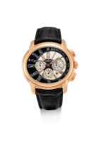 "AUDEMARS PIGUET | MILLENARY, REFERENCE 26145OR.OO.D093CR.01, A PINK GOLD CHRONOGRAPH WRISTWATCH WITH DATE, CIRCA 2008 | 愛彼 | ""MILLENARY 型號26145OR.OO.D093CR.01  粉紅金計時腕錶,備日期顯示,錶殼編號H07814,約2008年製"""