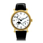 PATEK PHILIPPE   REFERENCE 5015  A YELLOW GOLD AUTOMATIC WRISTWATCH WITH MOON PHASES AND POWER RESERVE, MADE IN 1996