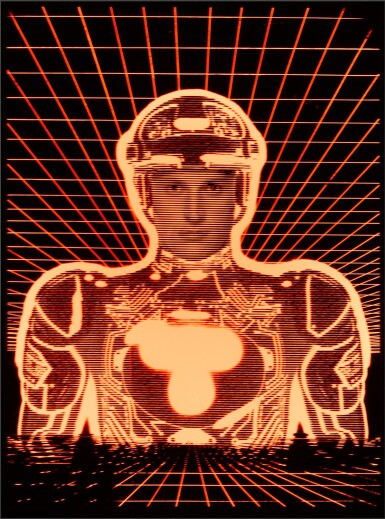 TRON (1982) PRELIMINARY ARTWORK IN BESPOKE LIGHTBOX, BRITISH