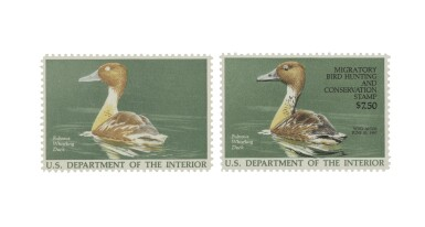 Hunting Permits 1986 $7.50 Multicolored Black Omitted (RW53a)
