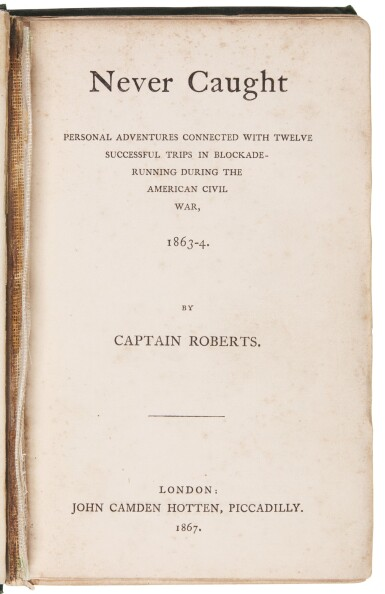 Roberts | Never Caught, 1867