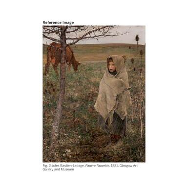 View 3. Thumbnail of Lot 455. PASCAL ADOLPHE JEAN DAGNAN-BOUVERET | JEUNE FEMME EN ROSE AVEC SON ENFANT .