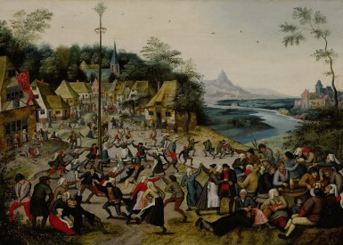 PIETER BRUEGHEL THE YOUNGER | ST. GEORGE'S KERMIS WITH THE DANCE AROUND THE MAYPOLE
