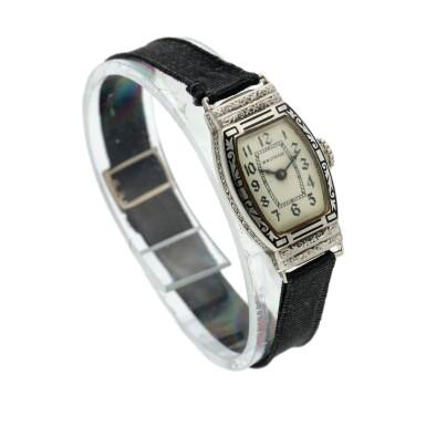 View 3. Thumbnail of Lot 162. A white gold wristwatch, Circa 1925 .