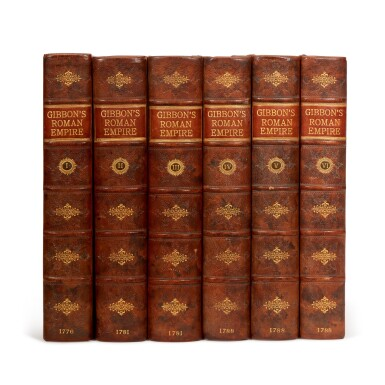 View 1. Thumbnail of Lot 78. GIBBON, E. | History of the Decline and Fall of the Roman Empire, 1776-1788, 6 volumes.