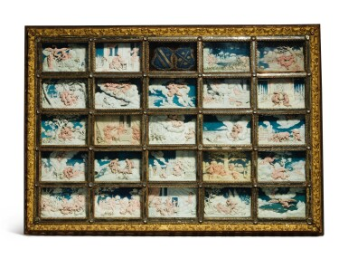 View 3. Thumbnail of Lot 802. pair of framed sets of reliefs with Ovid's Metamorphoses.