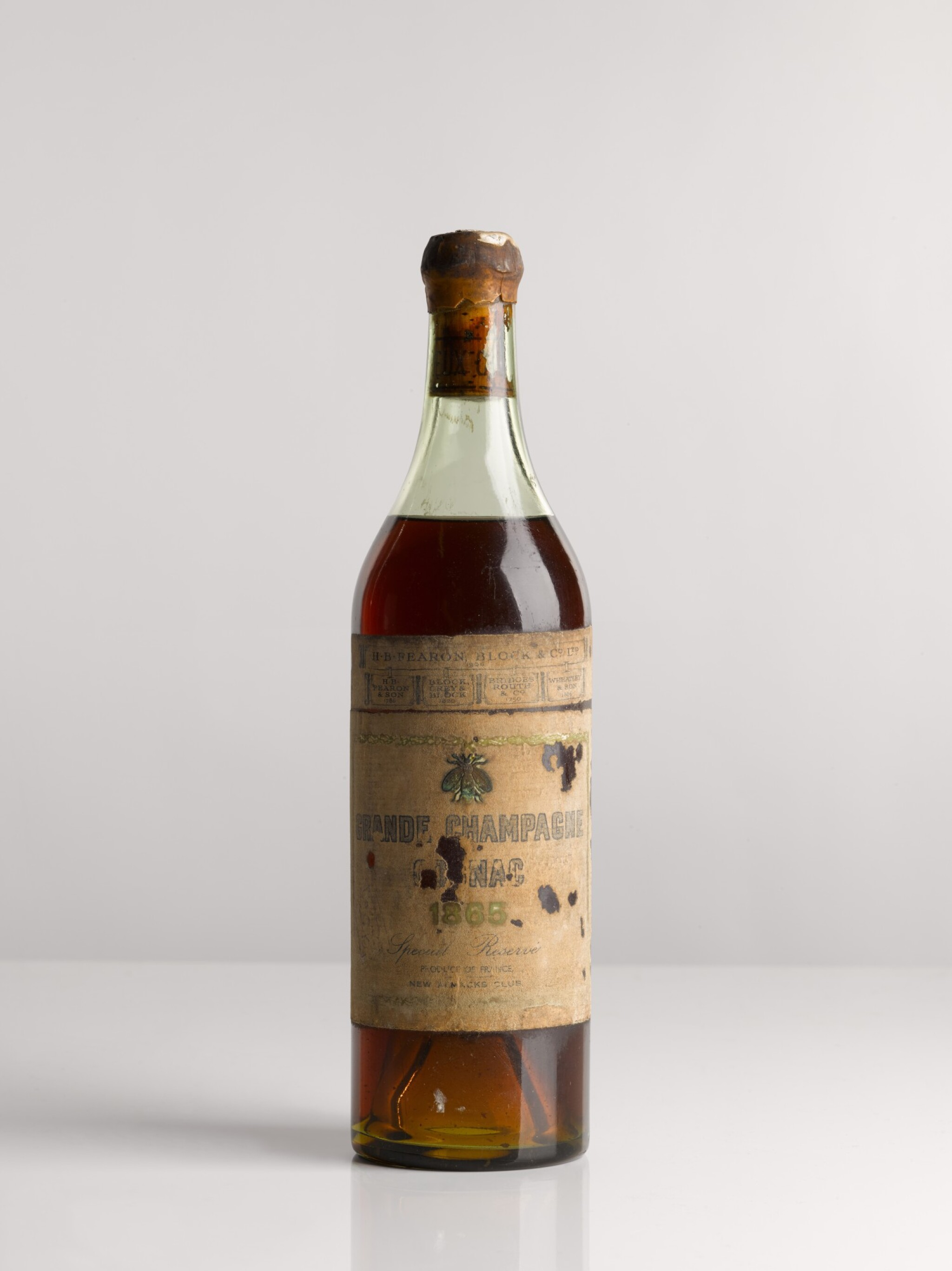 View full screen - View 1 of Lot 3. COGNAC GRANDE CHAMPAGNE, SPECIAL RESERVE 1865.