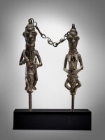 Pair of Yoruba Ogboni Edan Figures, Nigeria
