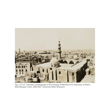 View 2. Thumbnail of Lot 17. LUDWIG DEUTSCH | PRAYING IN THE BLUE MOSQUE, CAIRO.