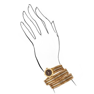 BULGARI | 'TUBOGAS' TWO-COLOURED GOLD LADY'S BRACELET-WATCH |寶格麗 | 'Tubogas' 雙色18K金 女士腕錶