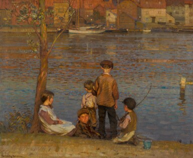 SIR JOHN ALFRED ARNESBY BROWN, R.A. | The River, Afterglow